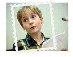 22 november 2013 - Voorleeskampioen Mees kondigt campagne 'Lezen is leuk' aan (kinderpostzegels.nl)