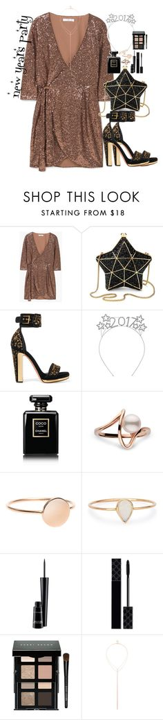"""""""new years party"""" by ohsnapitzblanca ❤ liked on Polyvore featuring MANGO, Aspinal of London, Alexander McQueen, Chanel, Catbird, MAC Cosmetics, Gucci, Bobbi Brown Cosmetics, Sole Society and party"""