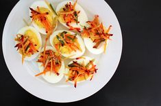Deviled Eggs are celebrated and eaten on this day. Deviled eggs—also known as eggs mimosa, stuffed eggs, and dressed eggs—are made with hard-boiled e… No Salt Recipes, Egg Recipes, Pasta Recipes, Easter Appetizers, Appetizer Recipes, Boil Easter Eggs, Deviled Eggs Recipe, Tasty, Yummy Food