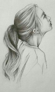 38 Pencil Drawing Of Woman Man Hair Ideas - Art Girl Drawing Sketches, Art Drawings Sketches Simple, Pencil Art Drawings, Cool Drawings, Sketch Art, Drawing Tips, Drawing Ideas, Art Drawings Beautiful, How To Draw Hair