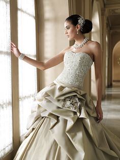 Weddings Abroad - Destination Weddings: I Love.......Coloured Bridal Gowns from David Tutera for Mon Cheri