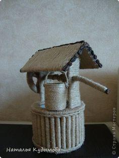 В последнее время меня вдохновляет шпагат.Давно хотела превратить бутылку в вазу, обдумывала разные варианты,пока не наткнулась на работу  Светланы130377 :   http://stranamasterov.ru/node/543060  Поняла - хочу такую же.Спасибо,Света,за идею. фото 4