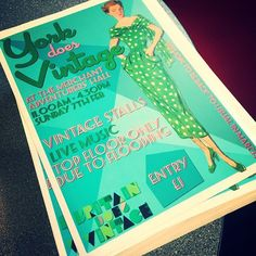Flyering today for #yorkdoesvintage on 7 February! #york #bdvoutandabout #britaindoesvintage #vintagefairs #pretty