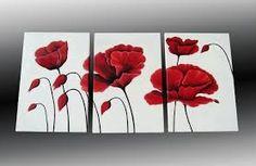 Resultado de imagen para cuadros de amapolas rojas Flowering Trees, Acrylic Art, Decoration, Diy Art, Fused Glass, Flower Art, Hand Embroidery, Poppies, Art Gallery