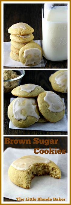 Brown Sugar Cookies, soft, chewy and delicious!