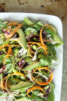 Recipe: Asain Cicken Salad with Honey Sesame dressing