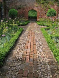 Like this path combo of brick and cobbles
