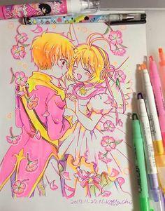 Hermoso dibujo de Sakura y Shaoran ❤️