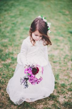 Breaux Vineyards Wedding | See more on #SMP - http://www.StyleMePretty.com/virginia-weddings/2014/01/03/breaux-vineyards-wedding/ #FlowerGirl | One Summer Day