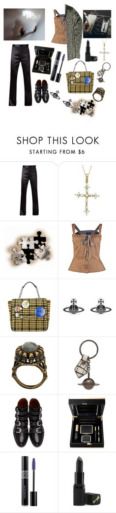 """Night in the dark forest."" by delilahinyourblood ❤ liked on Polyvore featuring Vivienne Westwood, WALL, Vivienne Westwood Anglomania, House of Harlow 1960, Givenchy, Christian Dior and Barry M"