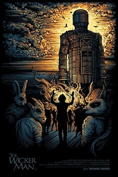 Movie: The Wicker Man Artist/Designer: Dan Mumford Event: Dark City Gallery's British Cinema Series Edition: Variant - Limited Edition of 75 Signed: Hand signed by the artist Numbered: Hand numbered Format: Hand printed silkscreen print Size: 24 X 36 inches