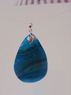 Shipment #3 12/21/15 Sorry Sold Spring Fling Open House 3/12/16 Blue Botswana Pendant $25.00 Terri