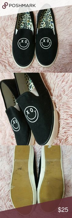 Xoxo flat smiley shoes Wore once in great condition, unique piece. XOXO Shoes Sneakers