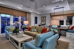 Diamond Beach Cottage - Traditional - Family Room - Orange County - Details a Design Firm