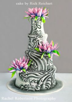 Tattoo Cake by Rick Reichart. Crazy Cakes, Fancy Cakes, Gorgeous Cakes, Pretty Cakes, Amazing Cakes, Take The Cake, Love Cake, Unique Cakes, Creative Cakes