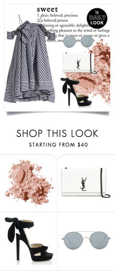 """""""Untitled #21"""" by hafizhahtika ❤ liked on Polyvore featuring Bobbi Brown Cosmetics, Yves Saint Laurent, Jimmy Choo, Gentle Monster, MSGM and Dailylook"""
