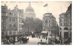 Cheapside, London -  St Paul's 1900's