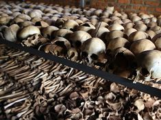 Unburied bones of victims of the Rwandan genocide at a memorial centre. Image by Flickr user DFID - UK Department for International Development (CC BY-NC-ND 2.0).  Rwanda  bones  genocide  genocide 1994  human nature  mass murder  memorial  mostly tutsis  never forget  remember  ruanda  skulls  tutsis  Ρουάντα  Руанда