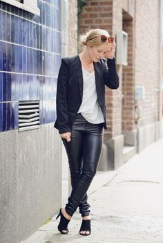 30 Outfits That'll Make You Want a Pair of Leather Pants Right Now | StyleCaster
