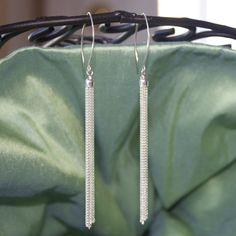 Sterling Silver Tassel Chain Earrings by LitaKinsey on Etsy, $18.00