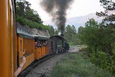 "The Durango & Silverton Narrow Gauge Railroad's coal-fired, steam-powered ""Durango Blues Train,"" locomotive. Photo Courtesy of Hart Roberts"