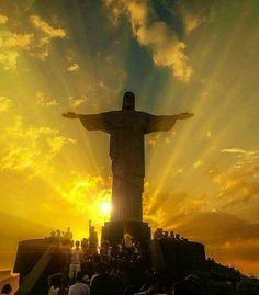 39bd56189b  riodejaneiro  rj  errejota  cristoredentor  brazil Beautiful Sunset
