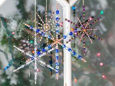Mini Northern Snowflake Glass Ornament