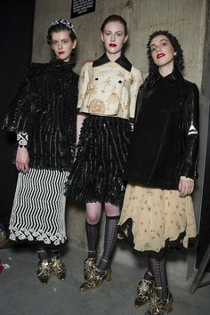 Meadham Kirchhoff AW13 backstage snaps