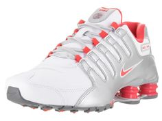 d939a06a3128bf Nike Shox NZ Womens 636088-102 White Silver Ember Glow Running Shoes Size  7.5