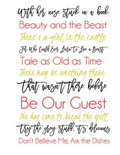 Beauty the beast quote chip and mrs potts quote print disney beauty and the beast subway art printable instant download voltagebd Choice Image