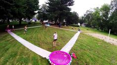 Unusual Diy Backyard Games Easy Outdoor Fun like a slip and slide baseball field. Youth Group Games, Family Games, Family Reunion Games, Youth Groups, Youth Group Events, Small Groups, Slip And Slide Kickball, Slip And Slide Baseball, Slip N Slide