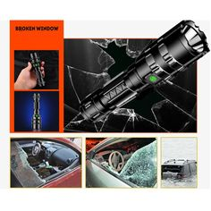 Buy New Super Bright Led Flashlight USB Rechargeable Waterproof LED Torch at Wish - Shopping Made Fun Bright Led Flashlight, Rechargeable Led Flashlight, Broken Window, Aluminium Alloy, Hunting, Usb, Lights, Free Samples
