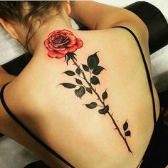 Rose back tattoo