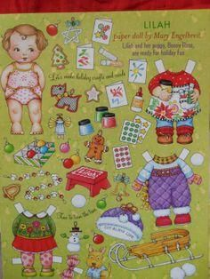 Lilah paper dolls by Mary Englebreit