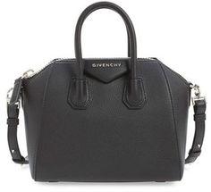 Shop Now - >  https://api.shopstyle.com/action/apiVisitRetailer?id=503645553&pid=uid6996-25233114-59 Givenchy 'Mini Antigona' Sugar Leather Satchel - Black  ...
