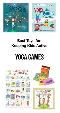 Best Yoga Games & Yoga Books for Kids - Yoga promotes health & self-esteem in kids while reducing feelings of helplessness and aggression.
