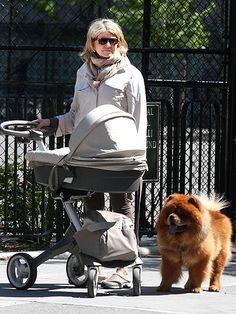 Martha Stewart and her Chow Chow dog, G.K.