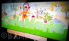 Appena terminate le vacanze estive e subito al lavoro con nuove richieste e nuove stampe su tela personalizzate! Questa di dimensioni cm 25x65 è già stata spedita al piccolissimo CarloMaria: da oggi avrai nuovi compagni e questi colori vivaci rallegreranno la tua cameretta. #ibambes #stampesutela #personalizzate #sceglituttotu #madeinitaly