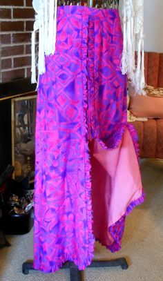 Hawaiian Pink Maxi Skirt  Vintage by Quilted Nest