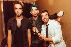 All Time Low backstage at the 2015 APMAs