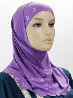 Two Piece Designer Hijabs Violet http://www.muslimbase.com/clothing/hijabs/two-piece-hijab/piece-designer-hijabs-violet-p-8297.html