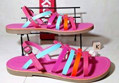 #Leather #Sandals #Flats #womensfashion Ladies Girls Kickers #Shoes Toe Pink Size 38 EU/5 UK #Kickers #Sandals #Party
