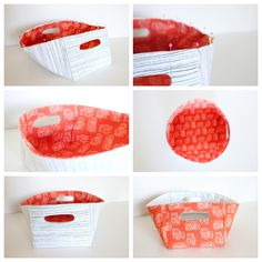 Fabric Basket with Cut Out Handles TUTORIAL - delia creates
