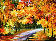 Original Recreation Oil Painting on Canvas This is the best possible quality of recreation made by Leonid Afremov in person  Title: The Path Of Sun Beams Size: 40 x 30 (100cm x 75cm) Condition: Excellent Brand new Gallery Estimated Value: $ 4,500 Type: Original Recreation Oil Painting on Canvas by Palette Knife  This is a recreation of a piece which was already sold.  Its not an identical copy, its a recreation of an old subject. This recreation will have texture unique just to this…