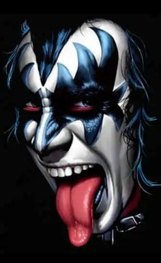 Hard Rock, Arte Heavy Metal, Iron Maiden Posters, Kiss Rock Bands, Scary Clown Mask, Horror Photos, Vintage Kiss, Kiss Art, Band Wallpapers