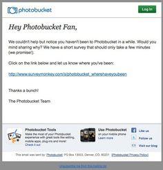 "Photobucket ""Where have you been?"" survey"