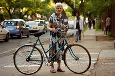 must remember to coordinate a fabulous dress with a fabulous bicycle when old.