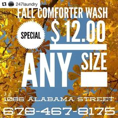 #Repost @247laundry: You can't beat this great deal we are offering right now! Come see us today! In and out the same day!!! We will also clean sleeping bags for the same low price! #thecarrolltonmenu #carrolltonmenu #uwg #templega #bremenga #thecitymenus #tcmpartners #carrolltonretail