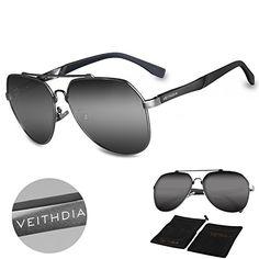 3246c863de89 VEITHDIA 3598 Adjustable HD Polarized Aviator Sunglasses for Fishing  Driving Grey Grey -- You can