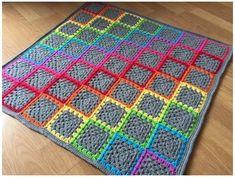 Granny Square Häkelanleitung, Granny Square Crochet Pattern, Afghan Crochet Patterns, Crochet Squares, Crochet Granny, Crochet Yarn, Granny Squares, Crotchet, Knitting Yarn